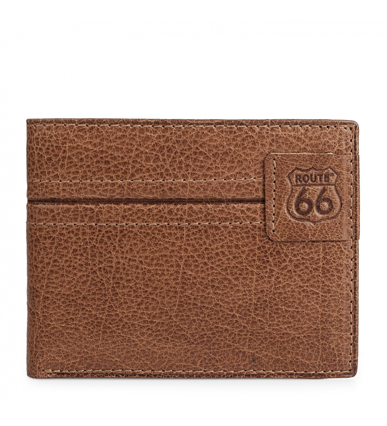 Comprar ROUTE 66 Billetero de piel Route 66 marrón -11,5x9cm-
