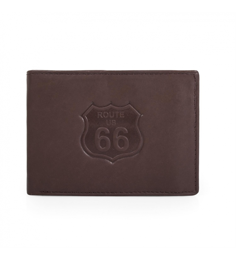 Comprar ROUTE 66 Leather wallet Route 66 Nevada brown -11,5x9x2 cm-