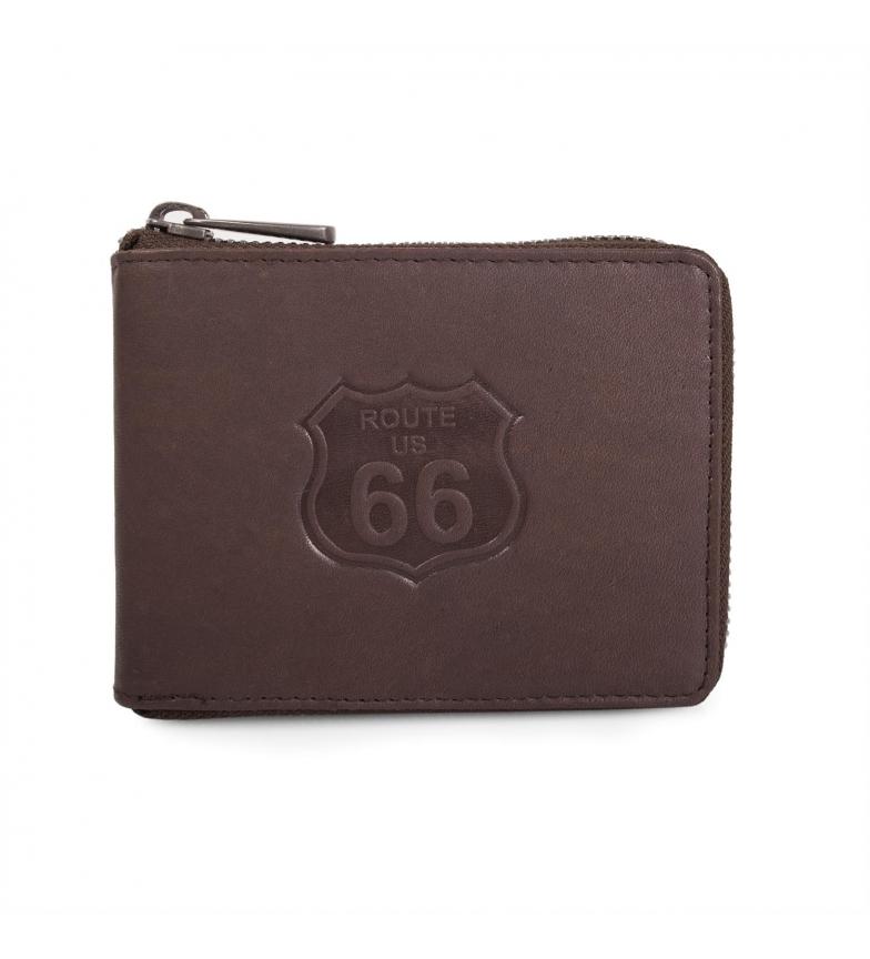 Comprar ROUTE 66 Carteira carteira homem Route 66 Nevada cor marrom -12x9x2-