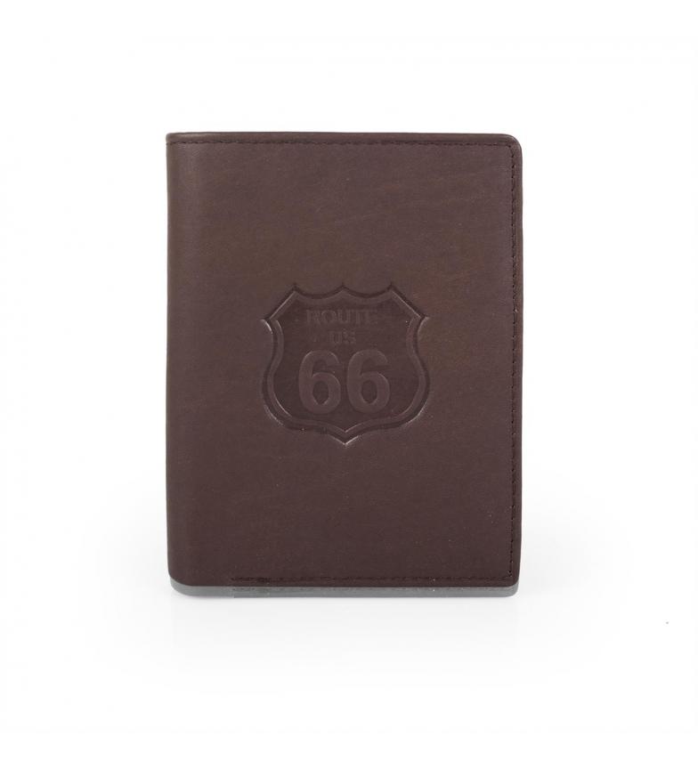 Comprar ROUTE 66 Cartera billetero hombre Route 66 Nevada color marrón -8x11x2-