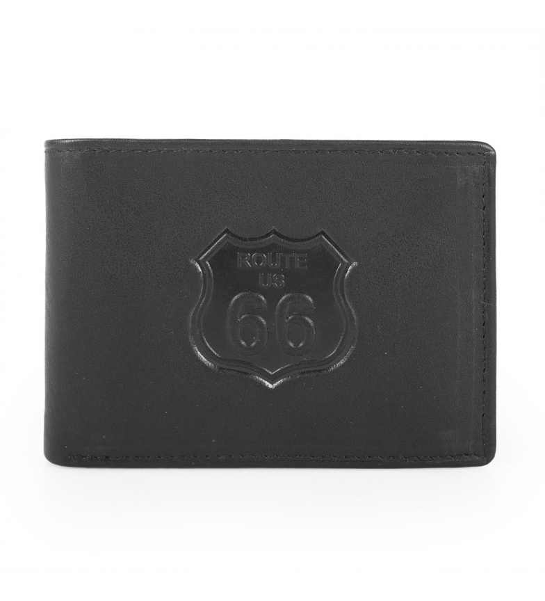 Comprar ROUTE 66 Leather wallet Route 66 Nevada black -11,5x9x2 cm-