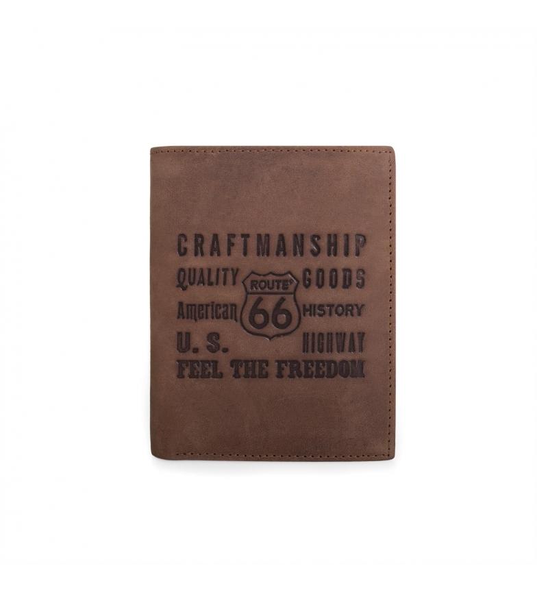 Comprar ROUTE 66 Portafoglio in pelle Route 66 New Hampshire marrone -8x10,5x2 cm-