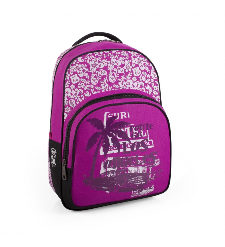 Comprar ROUTE 66 Route 66 Maryland fuchsia backpack -44x32x16cm-