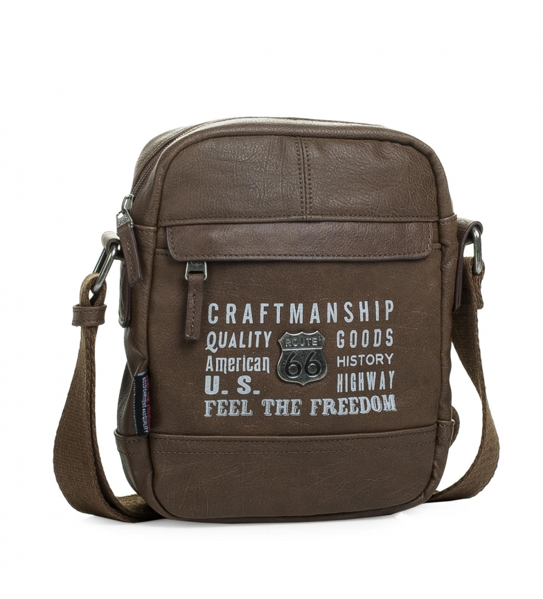 Comprar ROUTE 66 Men's shoulder bag Route 66 Utah brown -20x16x5-