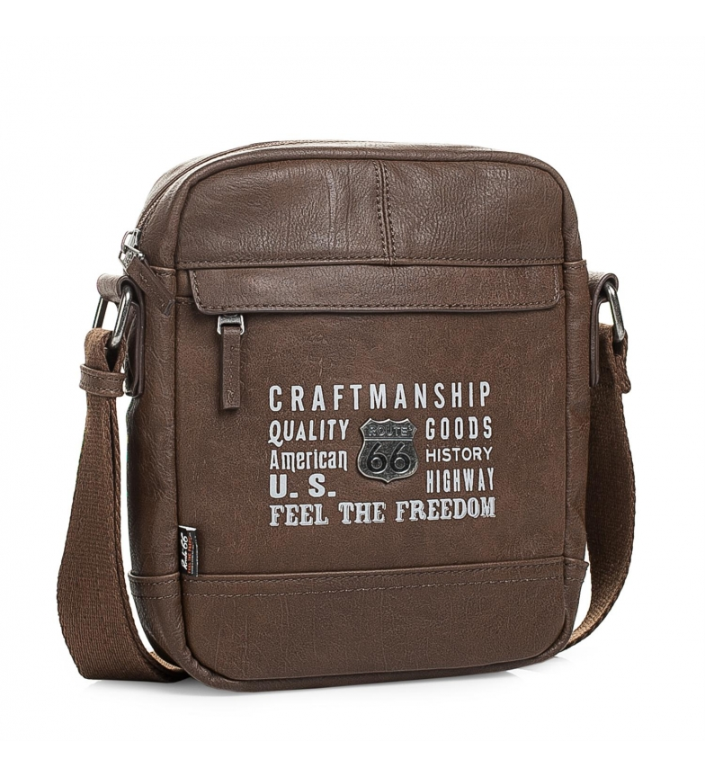 Comprar ROUTE 66 Man shoulder bag Route 66 Utah color brown -22x18x6-