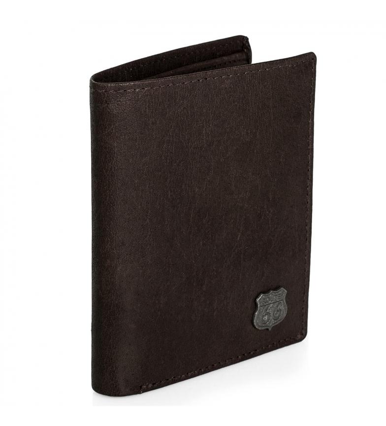 Comprar ROUTE 66 Portafoglio in pelle R40118 marrone -11x9 cm
