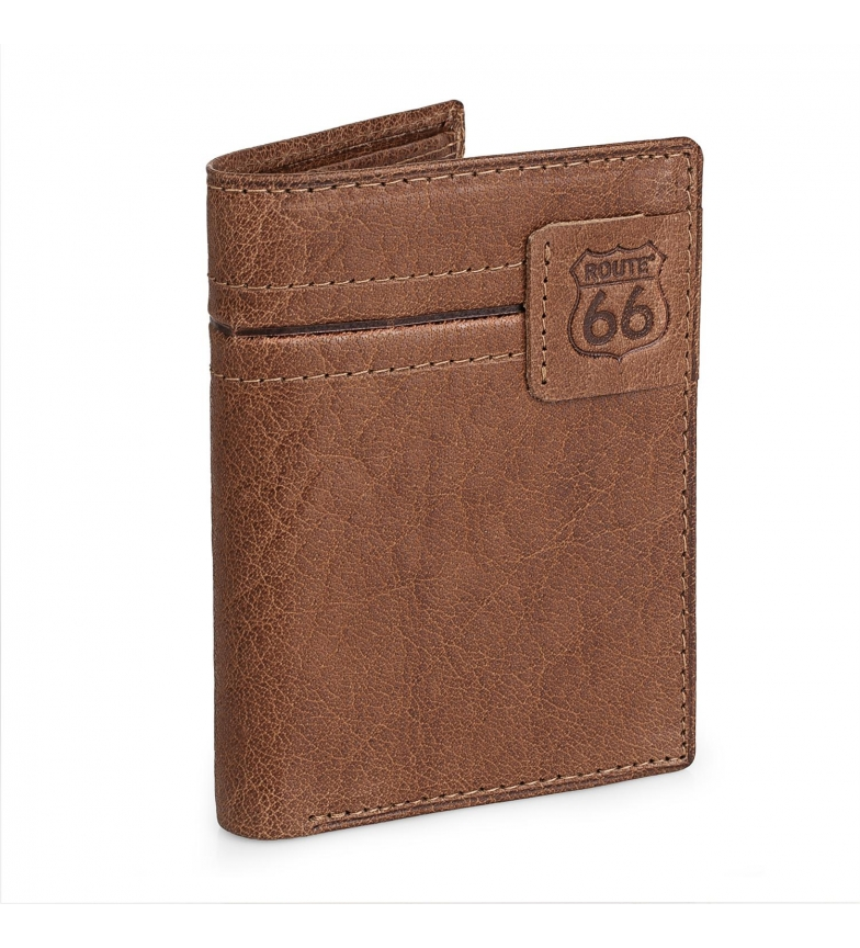 Comprar ROUTE 66 Leather wallet R40218 brown -11x8.5 cm