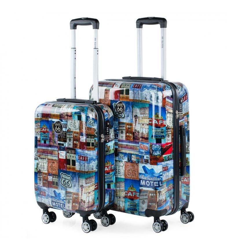 Comprar ROUTE 66 Jeu de 3 valises R61200 multicolore -59x39x25 cm