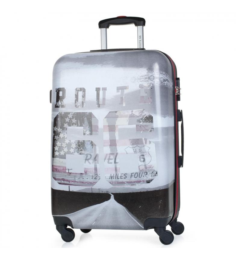 Comprar ROUTE 66 Carrinho de saco de viagem 60cm Route 66 Tennessee preto -65x40x27x27cm