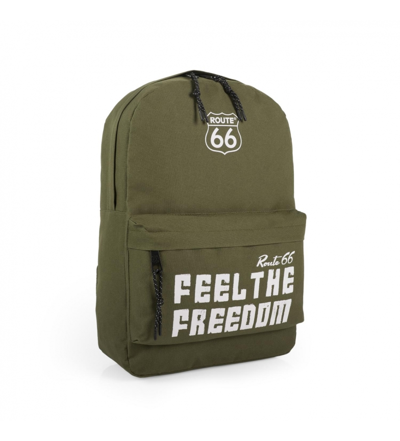 Comprar ROUTE 66 Route 66 North Carolina khaki backpack -40x30x11cm