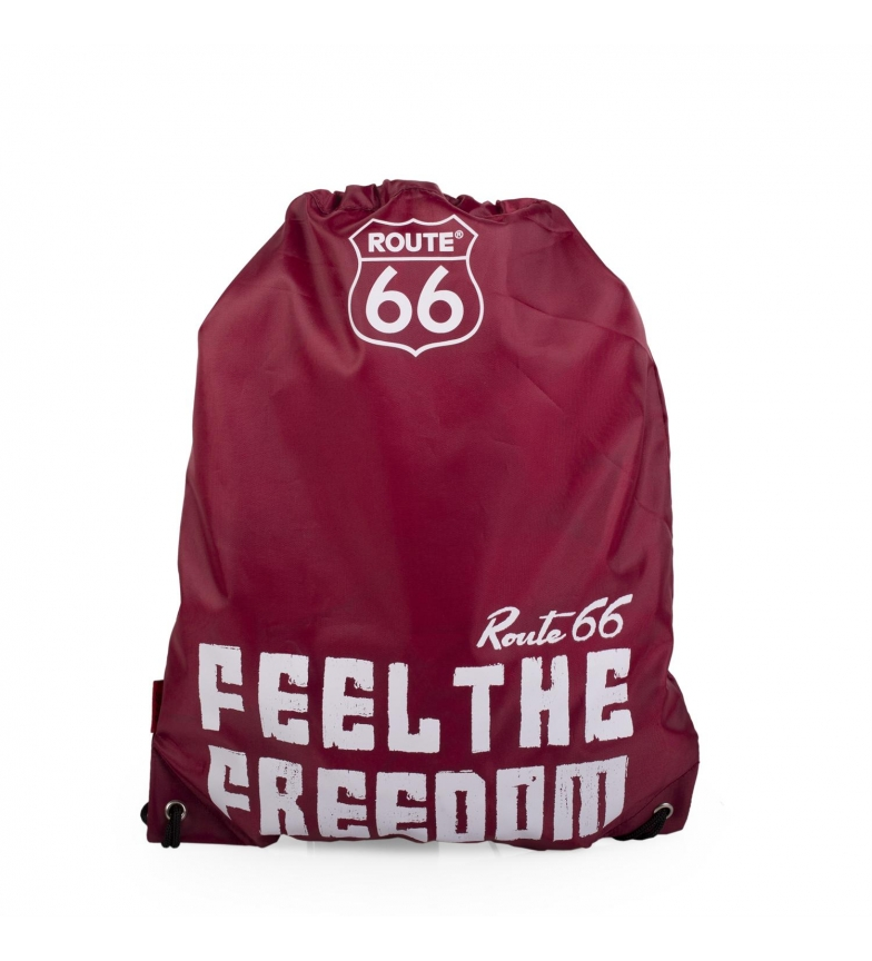 Comprar ROUTE 66 Mochila saquito Route 66 North Carolina color granate -42x34cm-