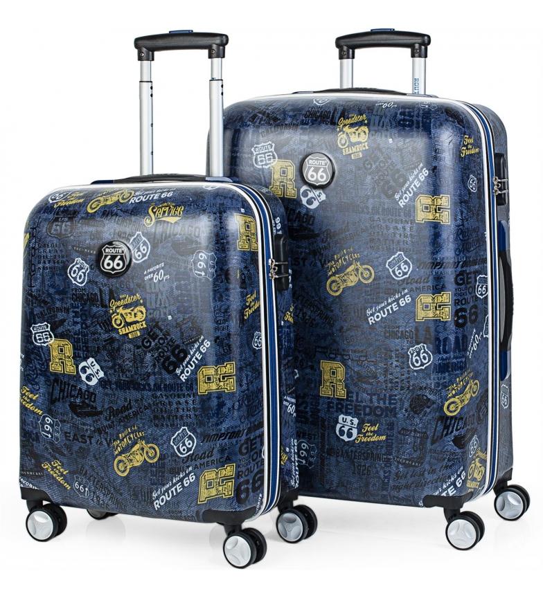 Comprar ROUTE 66 Set 2 Trolleys 50/60cm R61100 color negro -40x55x20cm/44x67x24cm-