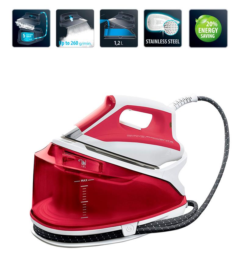 Comprar Rowenta Centro de planchado Compact Steam Extreme rojo -Función ECO ahorro del 20% de energía-