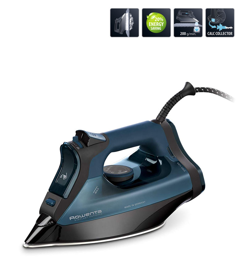 Comprar Rowenta Everlast steam plate antical turquoise -2800W / G.V. 200 g/min / Microsteam 400 Laser HD