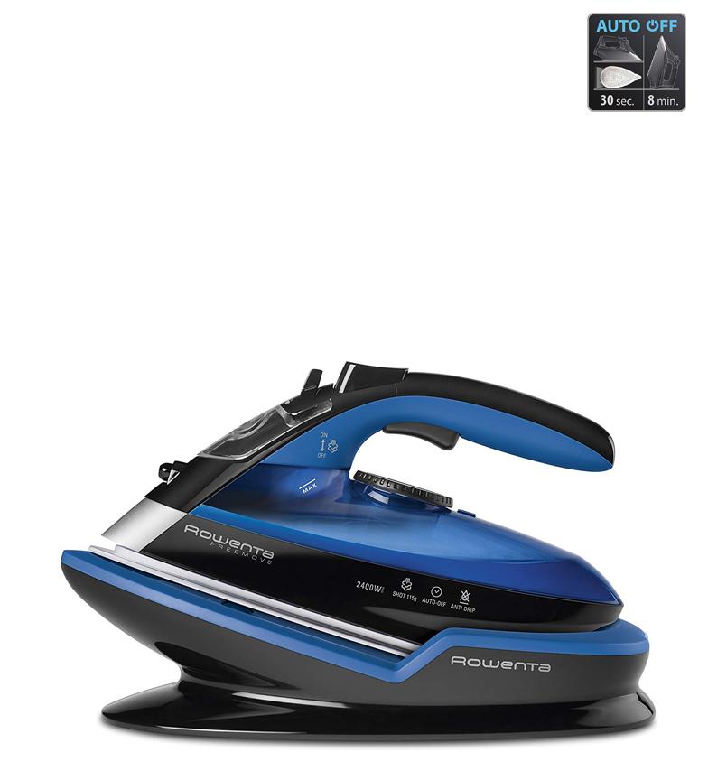 Comprar Rowenta Plancha inalámbrica Freemove azul, negro -2400 w. Microst.Laser 400  G.V. 115 g.-