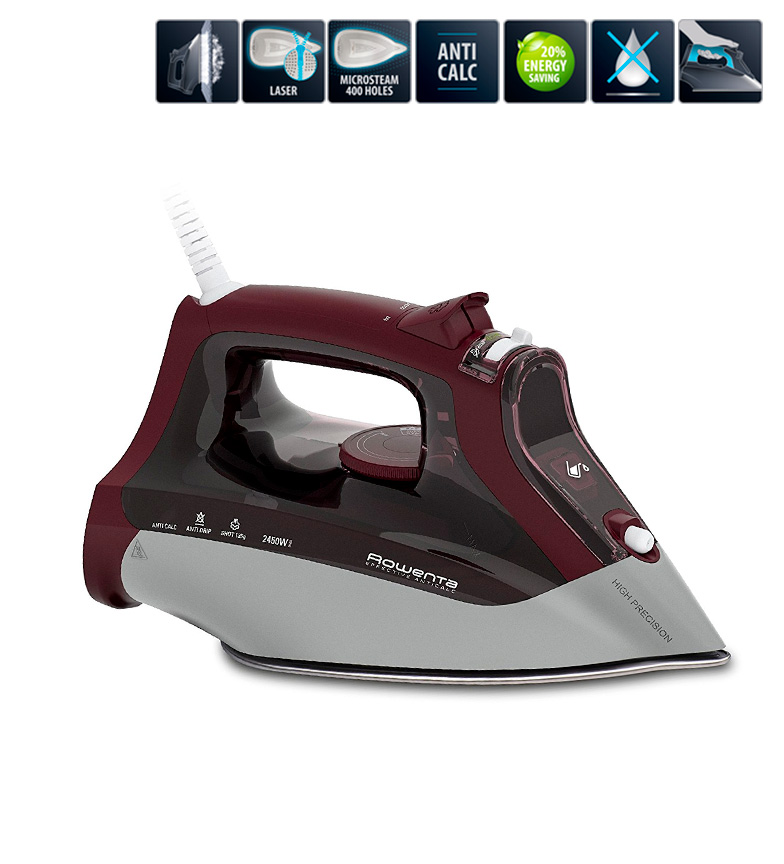 Comprar Rowenta Steam iron Effective Anti-Cal bordeaux -Microsteam 300 Laser-