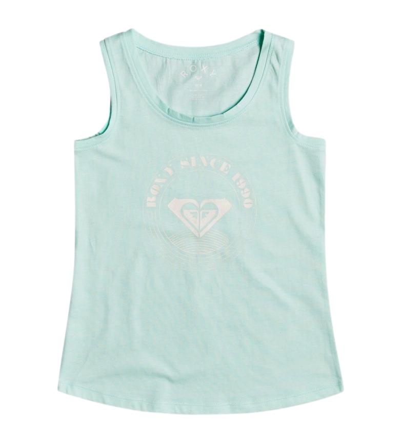 Comprar Roxy T-shirt turchese per ragazza con logo There Is Life