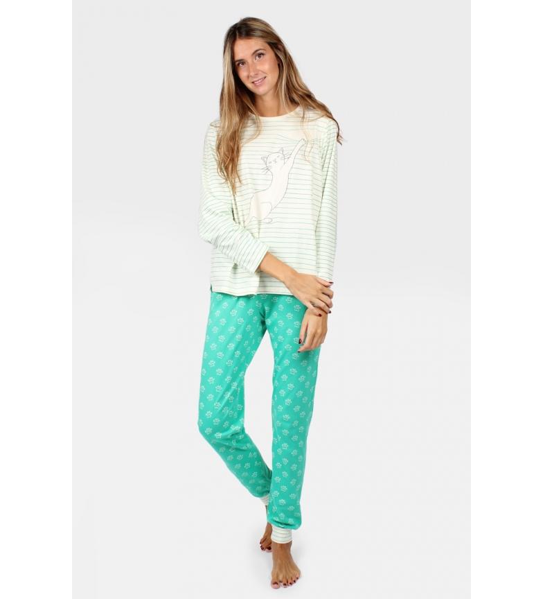 Comprar Santoro Pajama Long Sleeve Asking for Trouble green