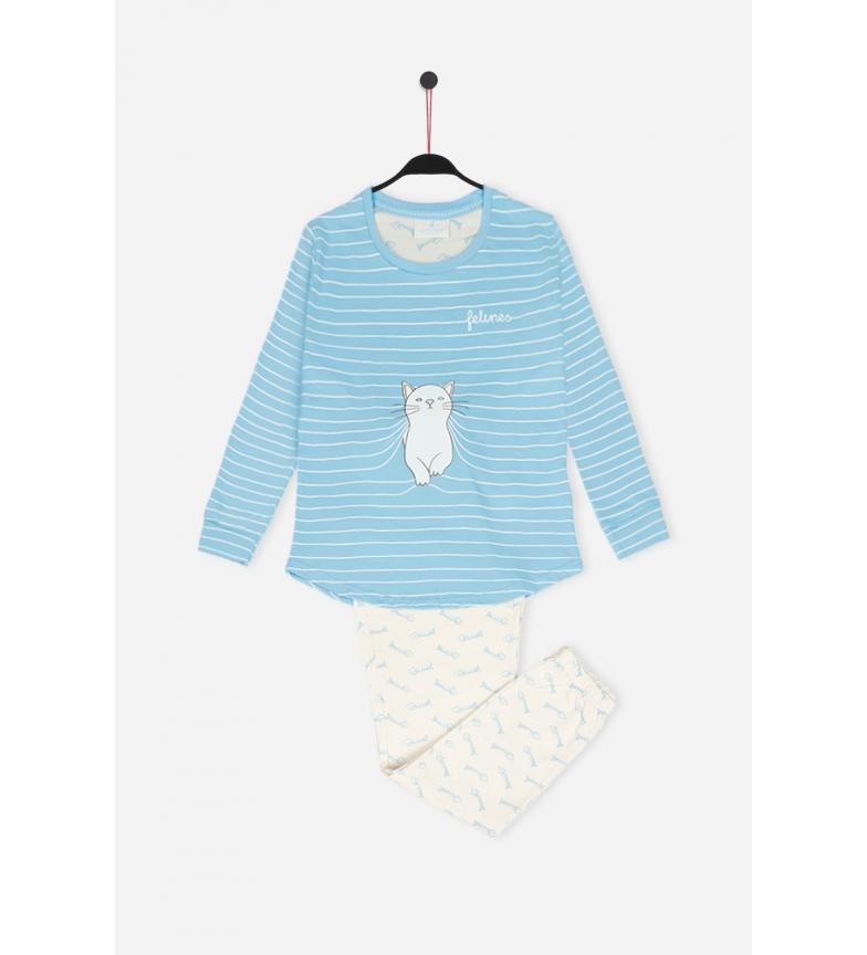 Comprar Santoro Pijama Manga Larga Purffect Place azul
