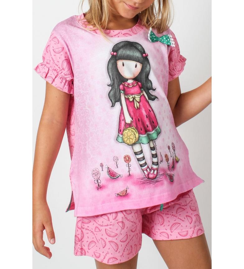 Comprar Santoro Pyjama à manches courtes Pink Tween