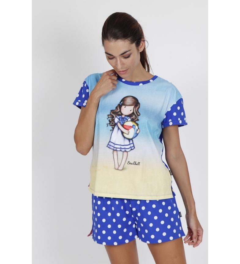 Comprar Santoro Beachball Short Sleeve Pajamas blue