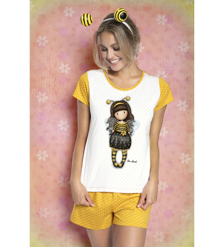Comprar Santoro Pajamas Short Sleeve Bee Loved yellow