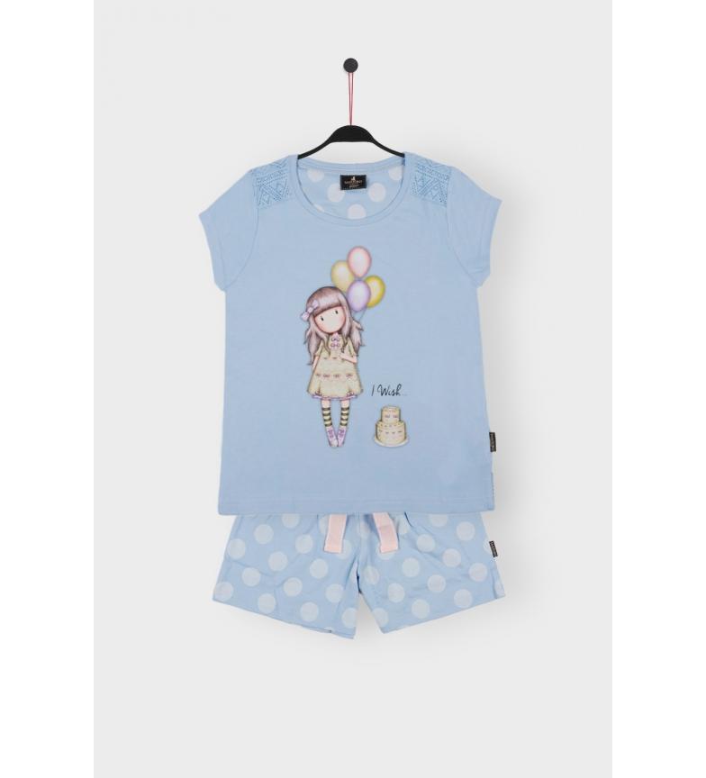 Comprar Santoro Pyjama à manches courtes I Wish blue