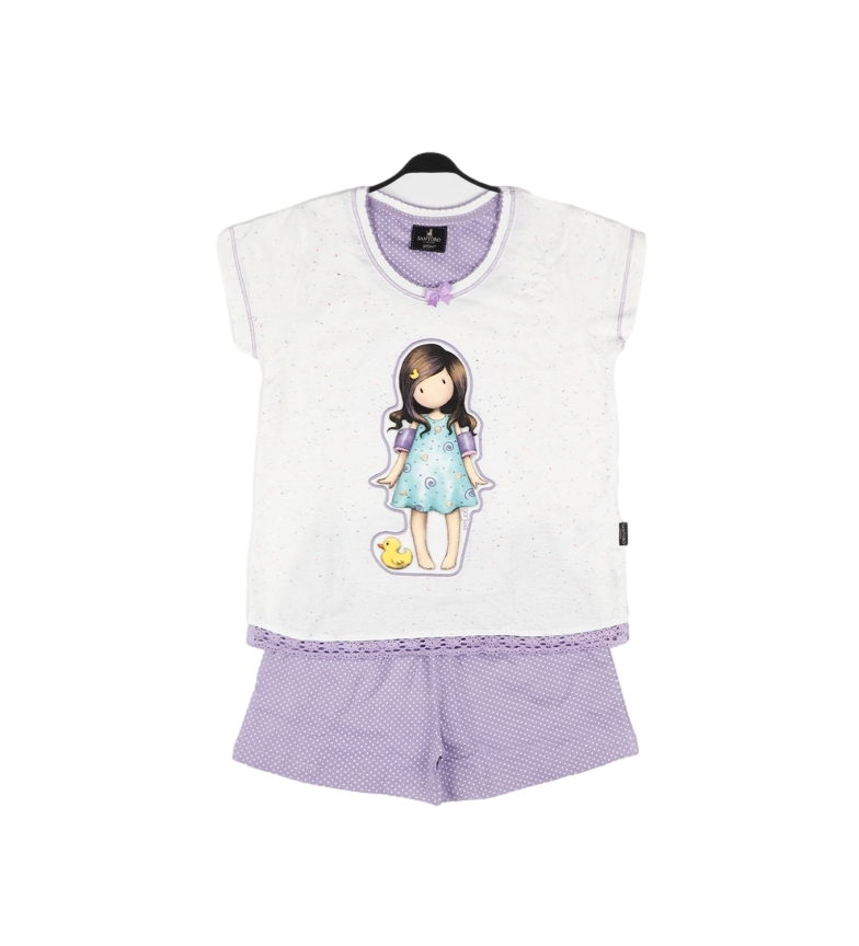 Santoro Pequeno Pijama de Pato 54473 branco, roxo