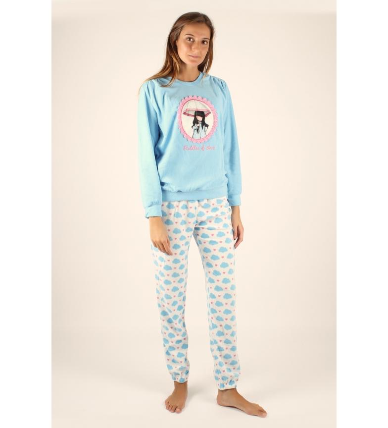 Comprar Santoro Pijama Manga Larga Calentito Puddles of Love azul