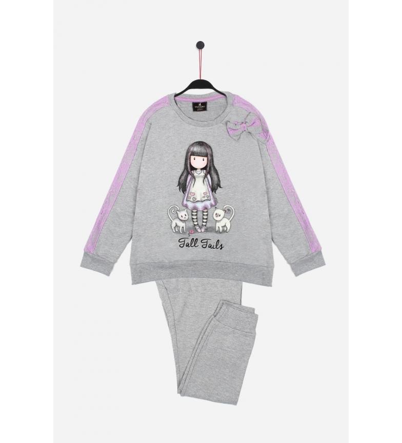 Comprar Santoro Pijamas de manga comprida Cauda Alta Cinza