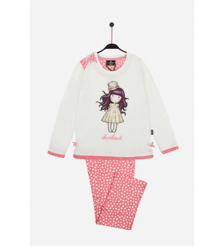 Comprar Santoro Love Heart Long Sleeve Pajamas White