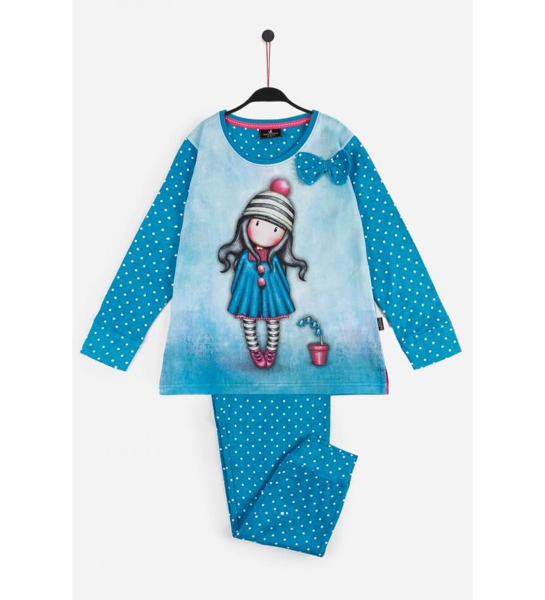 Comprar Santoro Pyjama à manches longues Pom Pom bleu