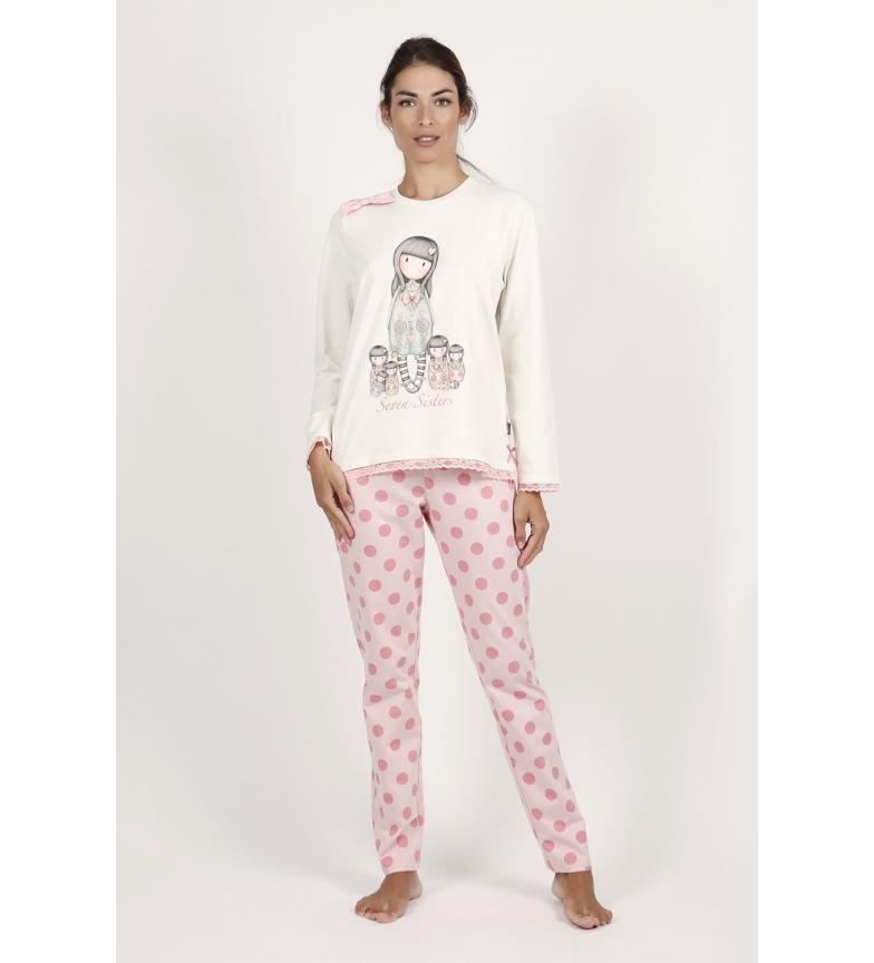 Comprar Santoro Seven Sisters Long Sleeve Pajamas ecru
