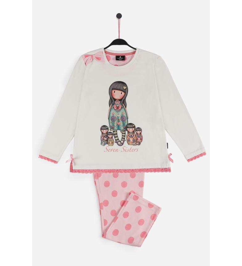 Comprar Santoro Pyjama à manches longues Sept Soeurs écru