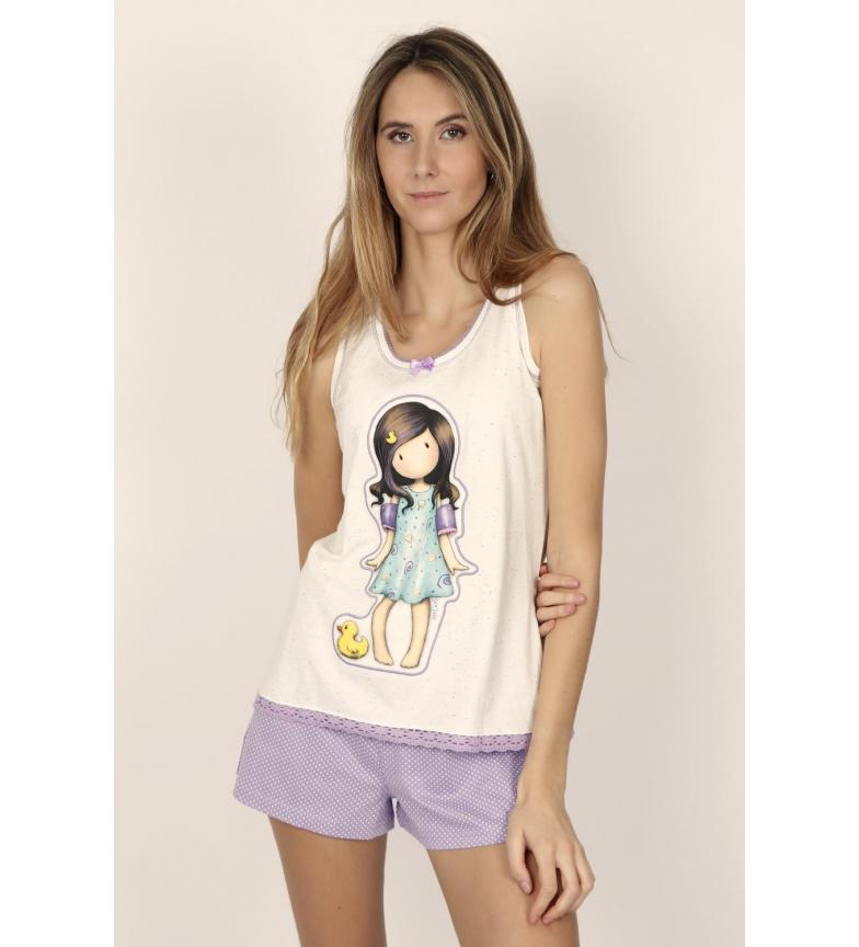 Comprar Santoro Pijama Tirantes Little Duck crudo