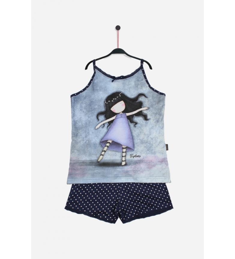 Comprar Santoro Pajamas Straps Tiptoes blue