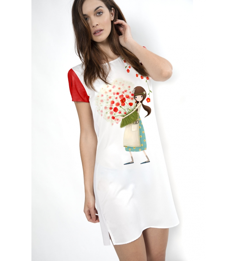 Comprar Santoro Short Sleeve Camisole Pretty as a Flower white