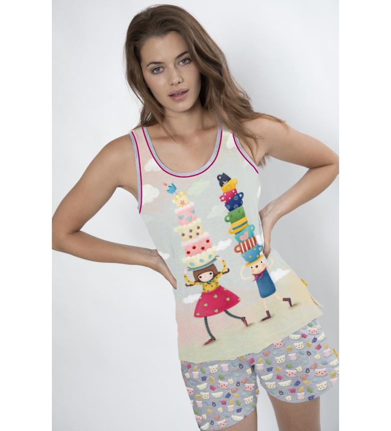 Comprar Santoro Pijama Tirantes Tea Party blanco, multicolor