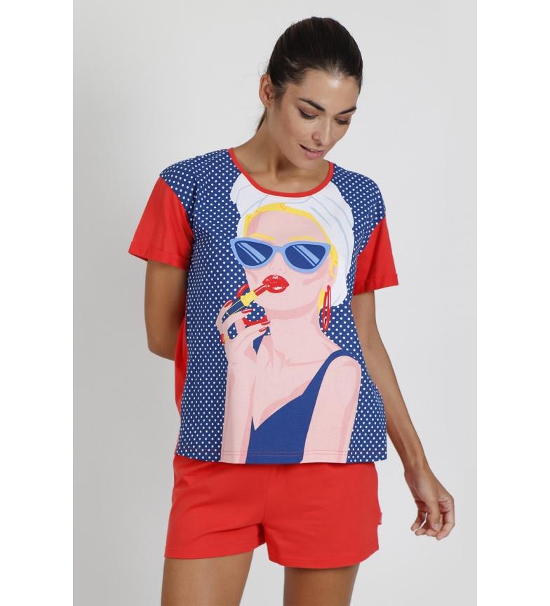 Comprar Santoro Lady in Red Short Sleeve Pyjamas red
