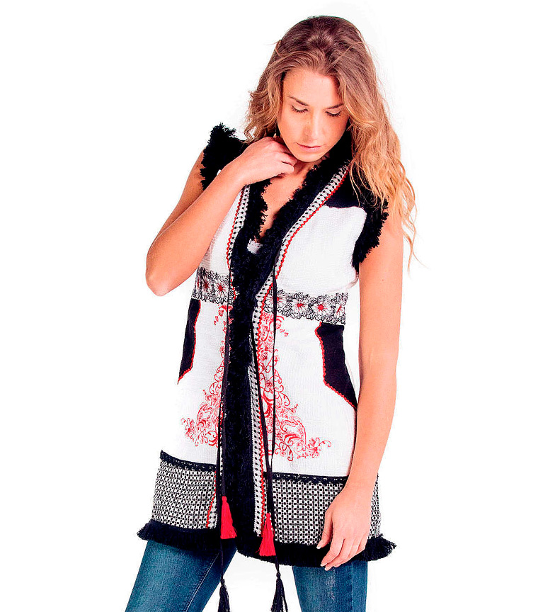 Comprar Savage Culture Colete Siena branco, preto
