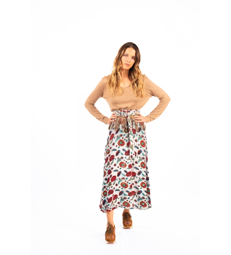 Comprar Savage Culture Gallup skirt white, red