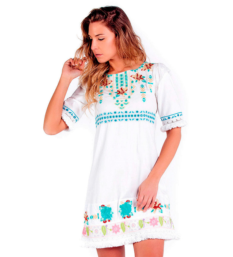 Amalfi Iii Blanco Vestido Savage Culture nmOv0wN8