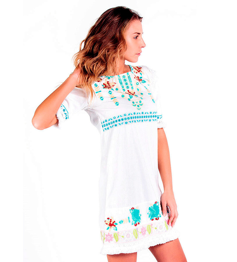 Vestido Culture Amalfi Savage Iii Blanco Kc31uTlJ5F