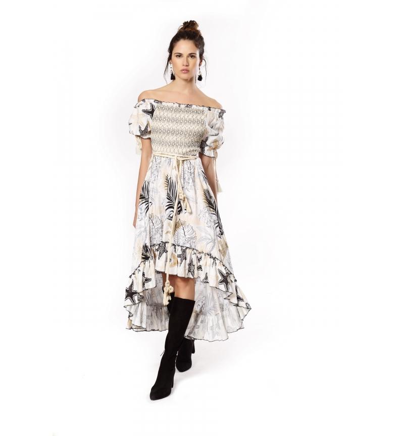 Comprar Savage Culture Beige Honeycomb Long Dress