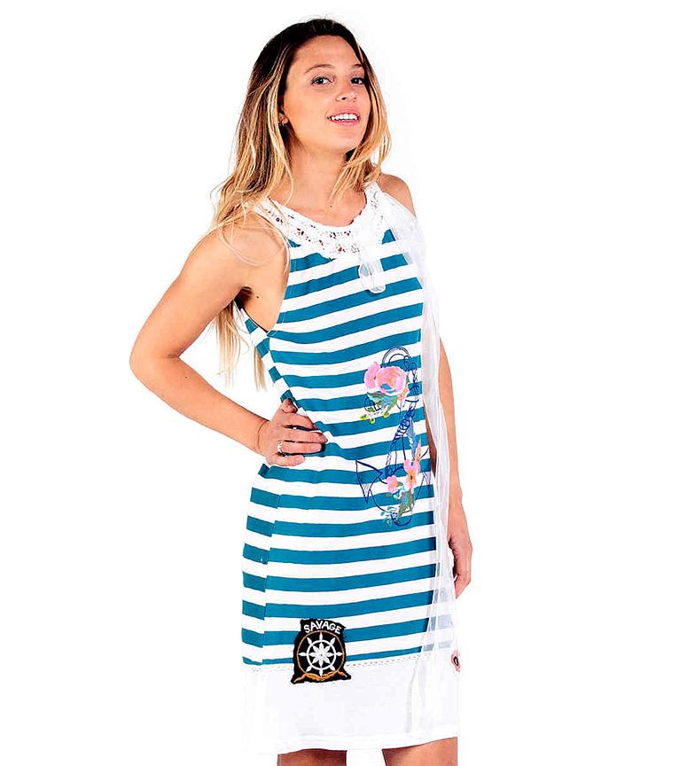 Capri Culture Savage AzulBlanco Vestido Ii DI2EYWH9
