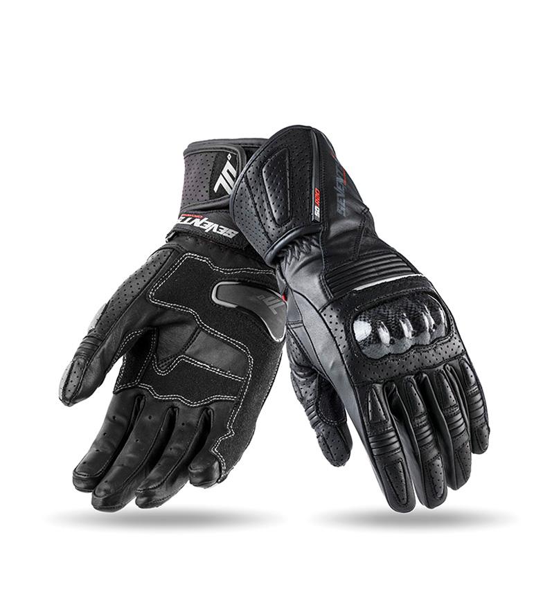 Comprar Seventy Luvas de couro SD-R2 Racing preto, cinza