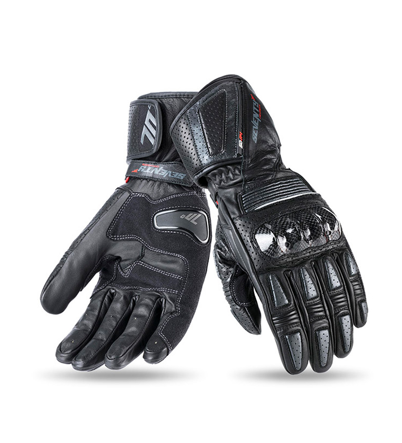 Comprar Seventy Leather gloves SD-R4 Racing black, gray