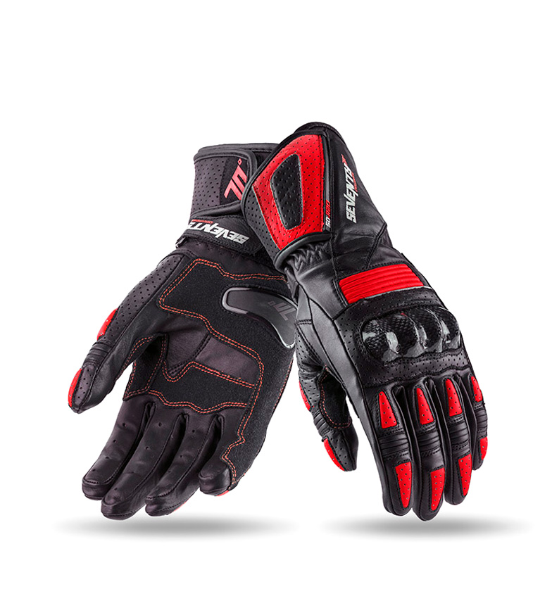 Comprar Seventy Leather gloves SD-R20 Racing black, red