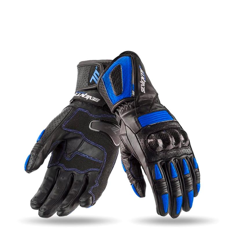 Comprar Seventy Leather gloves SD-R20 Racing black, blue