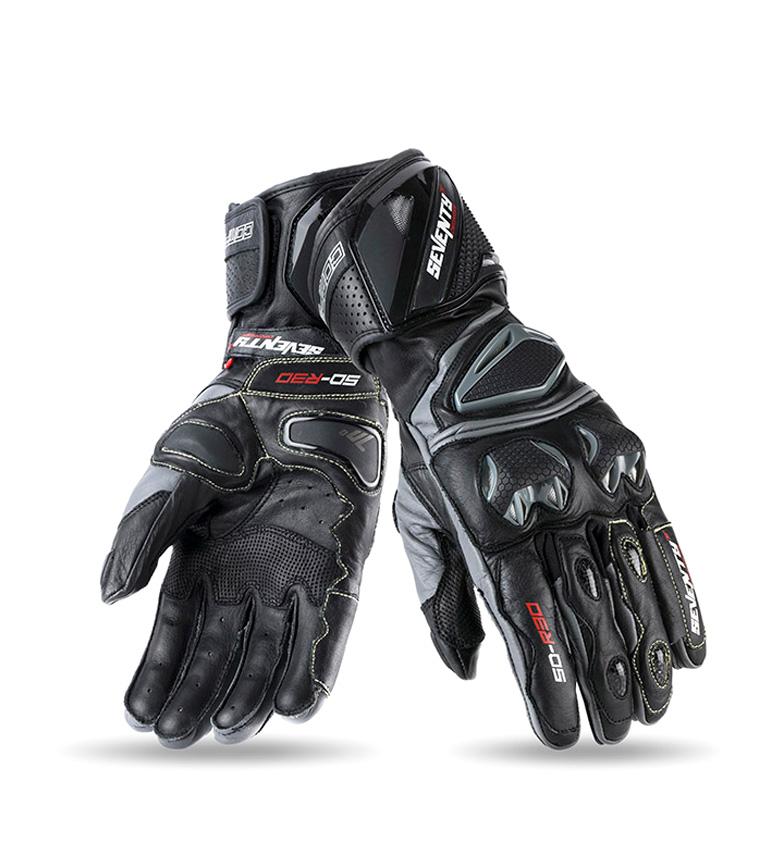 Comprar Seventy Luvas de couro SD-R30 Racing preto, cinza